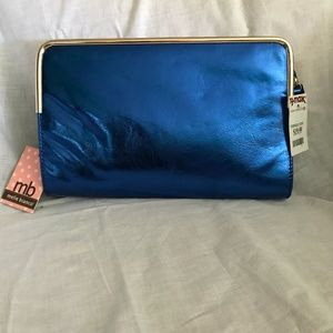 Metallic Blue and Gold Clutch NWT